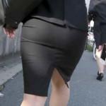 【OL街撮り画像】リクルートスーツ姿で就活を健気に続けている女子大生を背後撮り盗撮