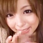 【フェラ動画】可愛い今井ひろのちゃんが見つめながら生フェラ&足コキは絶対勃起するwww