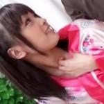 【無修正動画】神級に可愛い黒髪ツインテールっ娘のキツそうなアソコが丸見えwww