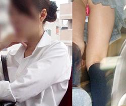 【JK逆さ撮り画像】サテン生地の派手なツルツルパンツを履いた女子校生の逆さ撮りパンチラ画像