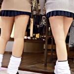 【JK街撮り画像】冬の制服でも自慢の太ももは出すww女子校生の通学、帰宅風景を盗撮した画像