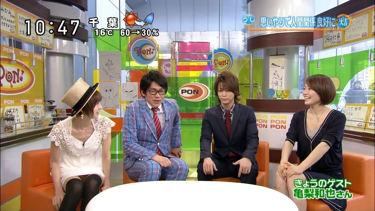 テレビ番組のパンチラエロ画像