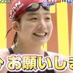 【テレビキャプ画像】TBS系列『炎の体育会TV』で16歳美少女JKの藤巻紗月が競泳水着で乳首ポッチw