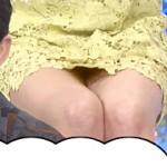 【拡大図アリ】2014年3月4日放送のロンドンハーツ内でグラドル丸高愛美の太ももパンチラ事故ww