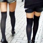 【ニーソ街撮り画像】絶対領域に目が行かないわけがないw太ももの魅力が上がった素人の女の子達