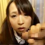 【松下ひかり動画】ツインテール女子校生が太すぎるチンコ片手にニッコリ生フェラ…クチいっぱいに発射w