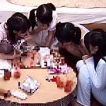 【乱交動画】宿題するために『お泊り会』開催した妹の友達を次々とハメ倒す極悪な兄www