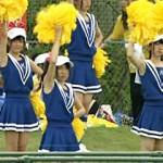 【チアリーダー画像】第96回高校野球中継でポニーテール可愛い女子校生のテレビキャプ画像