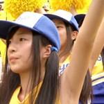 【テレビキャプ画像】2014年夏の甲子園…可愛い女子校生のチアガールでおっぱい揺れたGIFアニメ