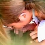 【JK青姦盗撮動画】学校サボって朝から公園でフェラチオ&生ハメ野外セックスしてる女子校生ww