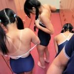 【愛須心亜 小西まりえAV動画】スクール水着が似合うロリ可愛い女の子とスク水着衣のままプールで乱交ww