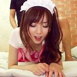 【麻倉憂AV動画】黒ニーソックス履いたメイドコスプレギャルをラブホテルで即ハメ撮りww