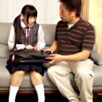 【小西まりえAV動画】無毛パイパンの制服ロリが初めて見る生チンポをアナルに挿入www