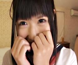 【中谷美結AV動画】黒髪ツインテールのまんすじ強調したパイパン女子校生がモザなしでエロいww