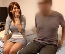 【長谷川ゆなAV動画】Eカップ巨乳女子大生がガチ素人男性の自宅に派遣…ガチで形の良いおっぱいwww